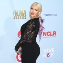 Christina Aguilera showing off her big bootie at the ALMA Awards