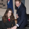 Kate Middleton signing something important
