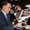 Mitt Romney signing autographs