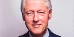 Bill Clinton face of new book cover