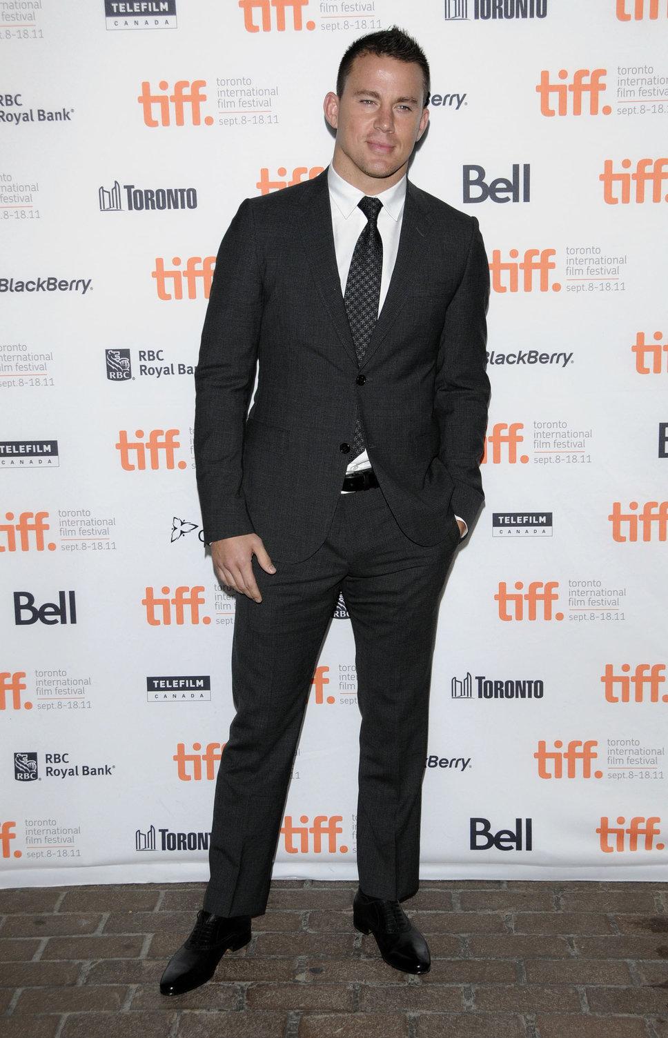 Channing Tatum wears Black Suit (Suit )